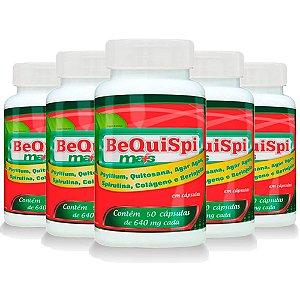 Emagrecedor Bequispi Mais - 5 unidades de 60 Cápsulas - Promel