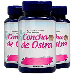Cálcio a base de Concha de Ostra - 3 unidades de 120 Cápsulas - Promel