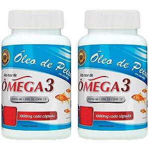 Óleo de Peixe Ômega 3 - 2 unidades de 120 cápsulas - Promel