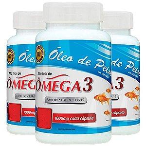 Óleo de Peixe Ômega 3 - 3 unidades de 120 cápsulas - Promel