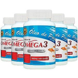 Óleo de Peixe Ômega 3 - 5 unidades de 120 cápsulas - Promel