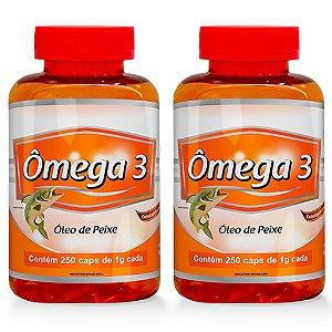 Ômega 3 Óleo de Peixe - 2 unidades de 250 cápsulas - Promel