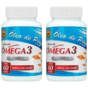 Óleo de Peixe Ômega 3 - 2 unidades de 60 cápsulas - Promel