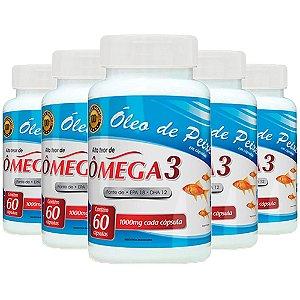 Óleo de Peixe Ômega 3 - 5 unidades de 60 cápsulas - Promel
