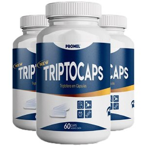Triptocaps Triptofano - 3 unidades de 60 Cápsulas - Promel