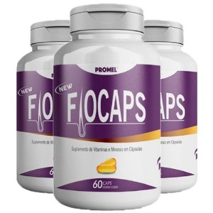 Multivitamínico Fiocaps - 3 unidades de 60 Cápsulas - Promel