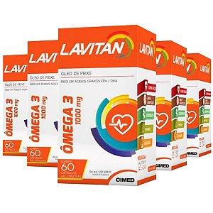 Ômega 3 Lavitan - 5 unidades de 60 Cápsulas - Cimed