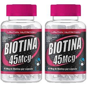 Biotina 45mcg - 2 unidades de 120 Cápsulas - Lauton