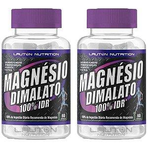 Magnésio Dimalato - 2 unidades de 60 Cápsulas - Lauton