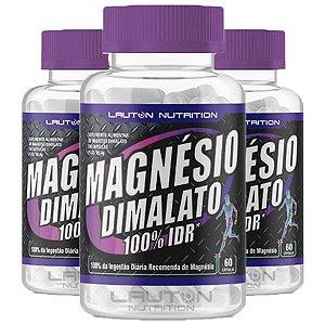 Magnésio Dimalato - 3 unidades de 60 Cápsulas - Lauton