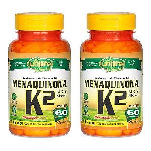 Vitamina K2 (Menaquinona) - 2 unidades de 60 Cápsulas - Unilife