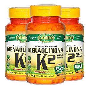 KitVitamina K2 Menaquinona Unilife 100% IDR 180 Cápsulas