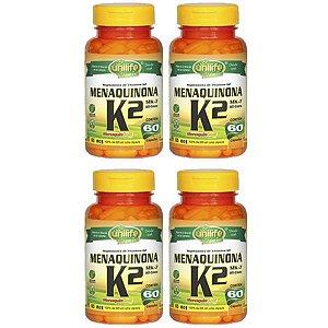 Vitamina K2 (Menaquinona) - 4 unidades de 60 Cápsulas - Unilife