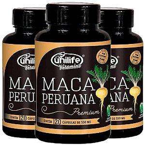 Maca Peruana Premium - 3 unidades de 120 Cápsulas - Unilife