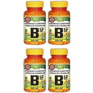 Vitamina B12 (cianocobalamina) - 4 unidades de 60 Cápsulas - Unilife