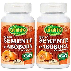 Óleo de Semente de Abóbora - 2 unidades de 60 cápsulas - Unilife