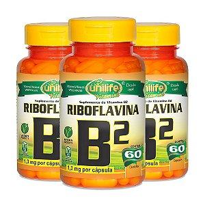Kit Vitamina B2 Riboflavina Unilife Suplemento 180 Cápsulas