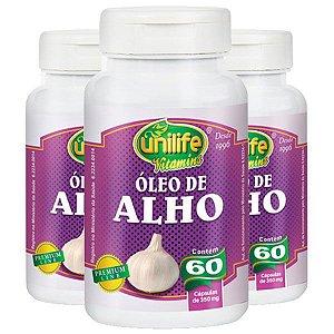Óleo de Alho - 3 unidades de 60 Cápsulas - Unilife