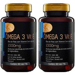 Ômega 3 com Vitamina E - 2 unidades de 60 Cápsulas - Upnutri Prime