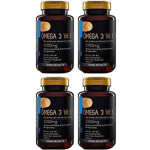 Ômega 3 com Vitamina E - 4 unidades de 60 Cápsulas - Upnutri Prime