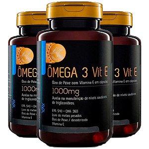 Ômega 3 com Vitamina E - 3 unidades de 120 Cápsulas - Upnutri Prime
