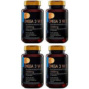 Ômega 3 com Vitamina E - 4 unidades de 120 Cápsulas - Upnutri Prime