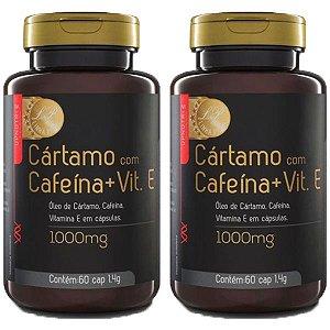 Cártamo com Cafeína e Vitamina E - 2 unidades de 60 Cápsulas - Upnutri Prime