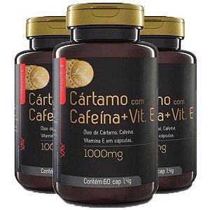 Cártamo com Cafeína e Vitamina E - 3 unidades de 60 Cápsulas - Upnutri Prime