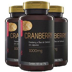 Cranberry e Óleo de Cártamo - 3 unidades de 60 Cápsulas - Upnutri Prime