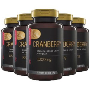 Cranberry e Óleo de Cártamo - 5 unidades de 60 Cápsulas - Upnutri Prime