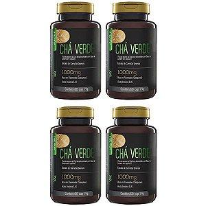 Chá Verde e Óleo de Cártamo - 4 unidades de 60 Cápsulas - Upnutri Prime