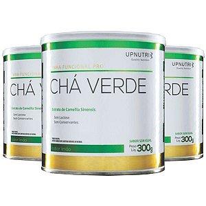 Chá Verde Solúvel Limão - 3 unidades de 300 Gramas - Upnutri Funcional