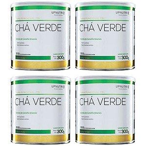 Chá Verde Solúvel Limão - 4 unidades de 300 Gramas - Upnutri Funcional