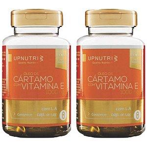 Óleo de Cártamo com Vitamina E - 2 unidades de 120 Cápsulas - Upnutri Premium