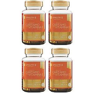 Óleo de Cártamo com Vitamina E - 4 unidades de 120 Cápsulas - Upnutri Premium
