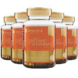 Óleo de Cártamo com Vitamina E - 5 unidades de 120 Cápsulas - Upnutri Premium