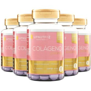 Colágeno Hidrolisado com Vitamina C - 5 unidades de 120 comprimidos - Upnutri Premium