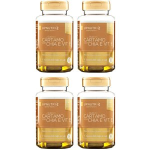 Óleo de Cártamo com Chia e Vitamina E - 4 unidades de 60 Cápsulas - Upnutri Premium
