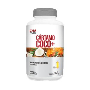 Cártamo + Coco - 120 Cápsulas - Clinic Mais