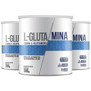 L-Glutamina - 3 unidades de 300 Gramas - Clinic Mais