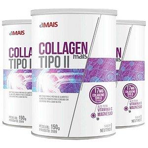 Collagen Mais Tipo II - 3 unidades de 150 Gramas - Clinic Mais