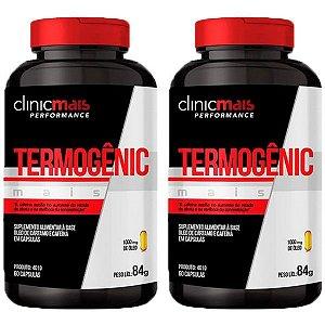 Termogênic Cafeína e Cártamo - 2 unidades de 60 Cápsulas - Clinic Mais