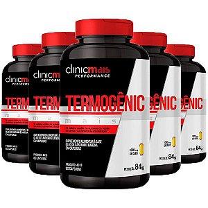 Termogênic Cafeína e Cártamo - 5 unidades de 60 Cápsulas - Clinic Mais
