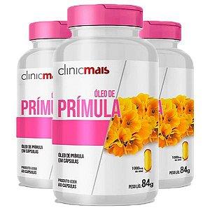 Óleo de Prímula - 3 unidades de 60 Cápsulas - Clinic Mais