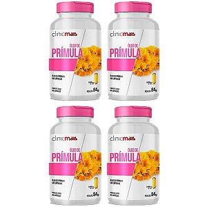 Óleo de Prímula - 4 unidades de 60 Cápsulas - Clinic Mais