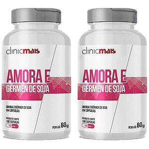 Amora e Gérmen de Soja - 2 unidades de 100 Cápsulas - Clinic Mais