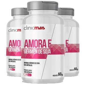 Amora e Gérmen de Soja - 3 unidades de 100 Cápsulas - Clinic Mais