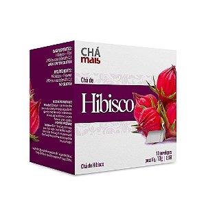 Chá de Hibisco - 10 envelopes - Chá Mais