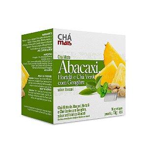 Chá Misto de Abacaxi com Hortelã e Chá Verde com Gengibre - 10 Envelopes - Chá Mais