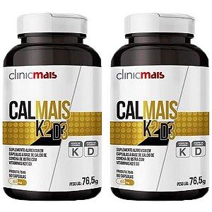 Calmais K2 e D3 - 2 unidades de 90 Cápsulas - Clinic Mais
